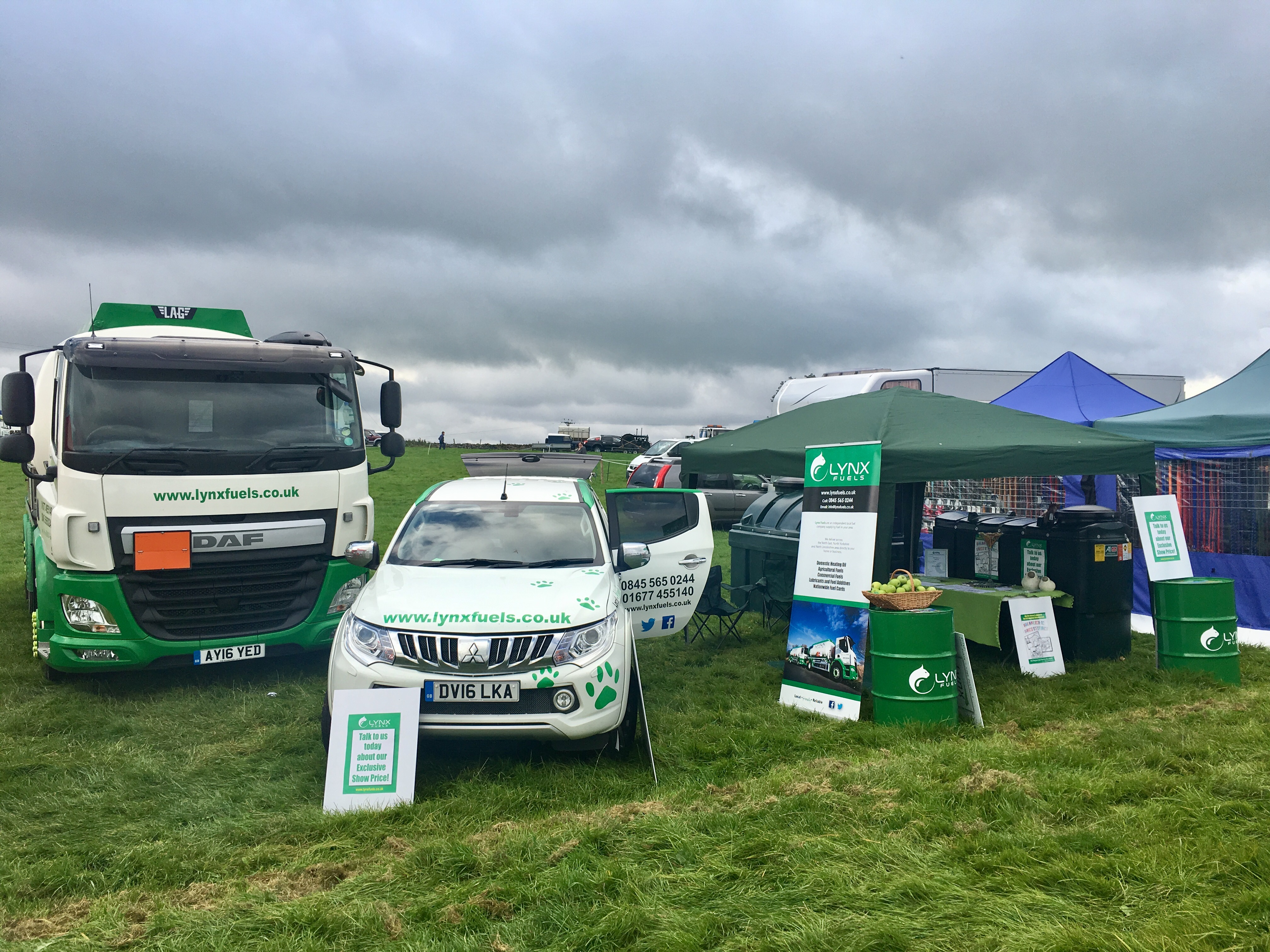 Lynx Fuels joined in the community spirit at the Wensleydale Show!